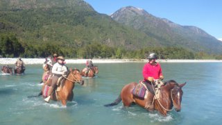 horse riding across the patagonian andes