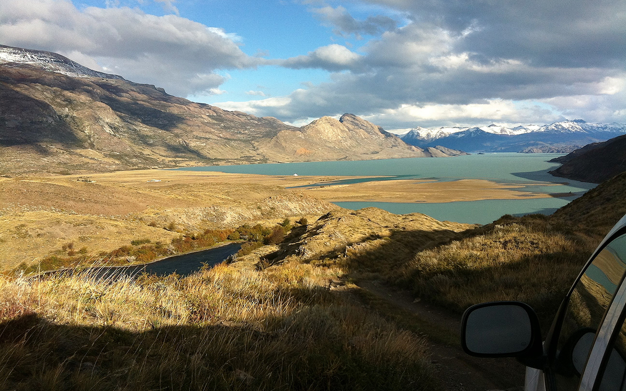 the road to Patagonia Glaciers
