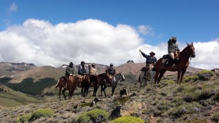 horse riding across patagonian andes