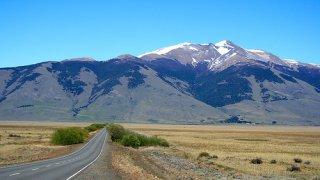 on the road to perito moreno glacier